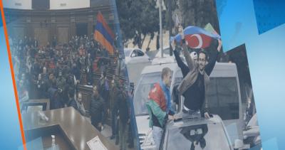 Гневни демонстранти нахлуха в парламента в Ереван след новото споразумение за Нагорни Карабах