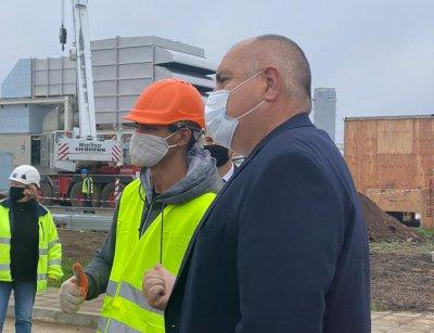 """Борисов инспектира площадката на газова станция """"Расово"""", част от """"Балкански поток"""""""