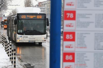Градският транспорт в София ще се движи по зимно разписание
