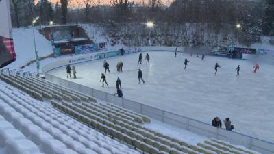 """Отвориха ледената пързалка до бившия стадион """"Юнак"""""""