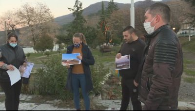 Жителите на село Беласица протестират срещу замърсяването на въздуха