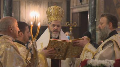 Отслужиха Света Василиева литургия и молебен за Новата година