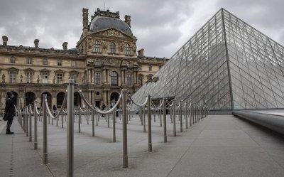 Посетителите на Лувъра са намалели с над 70% през 2020 г.