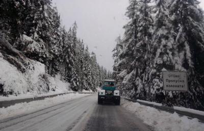 МВР: Времето се влошава, шофирайте внимателно при зимни условия