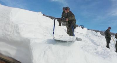 След силни снеговалежи армията се включва в почистването на пътища в Австрия