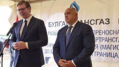 """Борисов изпрати картина на Вучич за спомен от """"Балкански поток"""""""