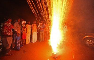В Индия празнуват встъпването в длъжност на Камала Харис (СНИМКИ)