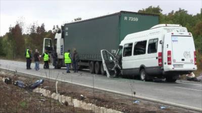 """Осъдиха на 6 години затвор украинския шофьор на ТИР за катастрофата край """"Лесово"""""""