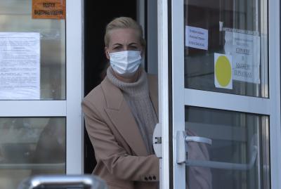 Глоба за съпругата на Навални заради участието ѝ в протестите