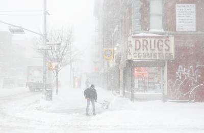 Снежна буря в Североизточната част на САЩ