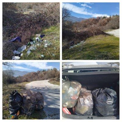 За пример: Жители на Паталеница почистиха сами отпадъците в селото
