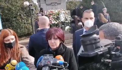 Караянчева: България помни заветите на Левски и се опитва да ги изпълнява