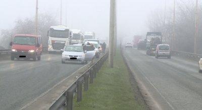 Три верижни катастрофи в Русе заради мъгла и несъобразена скорост