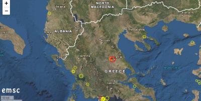 6,3 по Рихтер в Гърция, трусът е усетен у нас