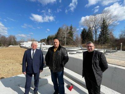 Борисов посети новата пречиствателна станция за питейни води на Перник