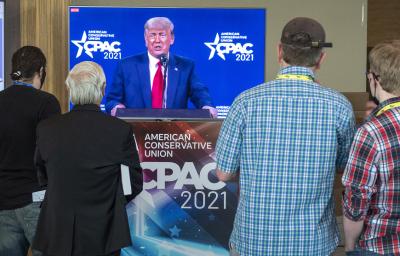Тръмп се появи на първо официално събитие след напускането на Белия дом