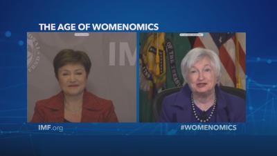 За Деня на жената: Кристалина Георгиева разговаря с финансовия министър на САЩ