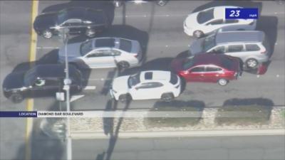 Зрелищно бягство от полицията в Лос Анджелис