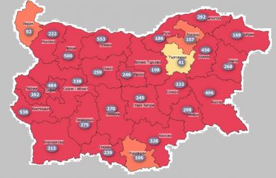 """Русе и Монтана отново са в """"червената зона"""" по заболеваемост от COVID-19"""