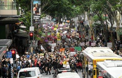 Протести срещу насилието над жени в Австралия