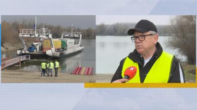 Тръгна фериботът Силистра - Кълараш