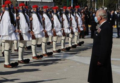 Принц Чарлз и чуждестранни гости на Националния празник на Гърция
