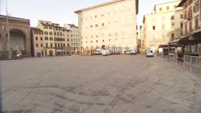 Улиците на Флоренция опустяха