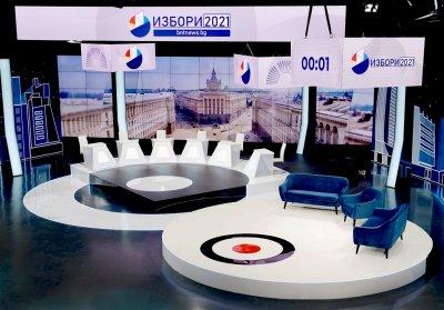 Вижте новото изборно студио на БНТ