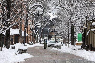 Сняг покри Полша (Снимки)