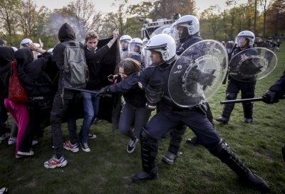 Протести срещу ковид мерките, в Брюксел се стигна до сблъсъци