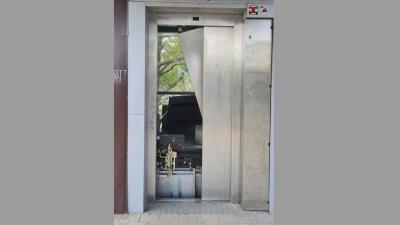 """За пореден път вандали повредиха асансьор на надлеза в кв. """"Аспарухово"""" във Варна"""