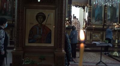 Осветиха копие на чудотворната икона на Свети Георги от Светогорски манастир
