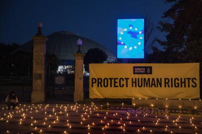 Бдение със свещи преди европейската среща на върха в Порто