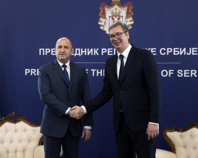 Президентът Радев е на посещение в Цариброд (СНИМКИ)