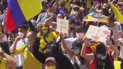 15 са жертвите на сблъсъците между полиция и демонстранти в Колумбия