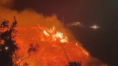 Издадена е заповед за евакуация в Калифорния заради разрастващ се пожар
