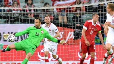 Русия и Полша не се победиха в контрола, бивш играч на Лудогорец се разписа