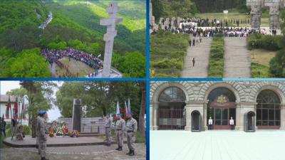 Сирени в знак на почит към подвига на загиналите за свободата на България