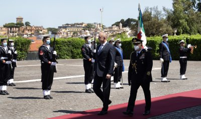 Румен Радев се срещна с италианския си колега в третия ден от визитата в Рим
