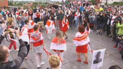 Демонстрации в знак на солидарност с народа на Беларус и задържания Протасевич