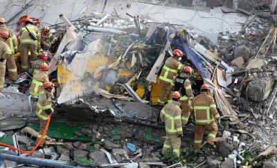 Пететажна сграда се срути в Южна Корея