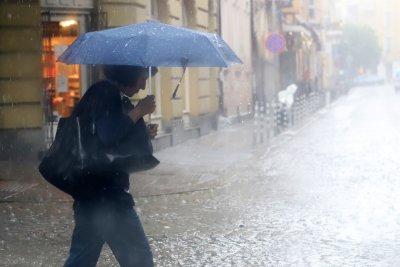Пороен дъжд с градушка в столицата