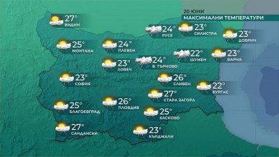 Следобед отново се очакват валежи