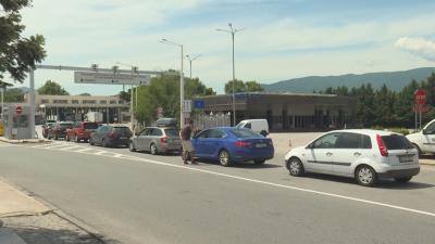 Километрична колона от чакащи автомобили за Гърция имаше и днес