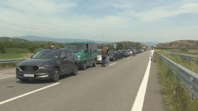 """Натоварен трафик на изход за Гърция на """"Кулата"""" и на """"Маказа"""""""