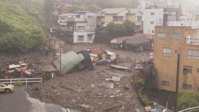 20 души са в неизвестност след свлачище в Япония