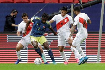Отборът на Колумбия с бронзовите медали от Копа Америка