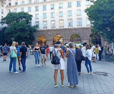 Бойко Рашков дойде на митинг по повод една година от протестите