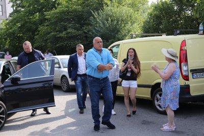 """Бойко Борисов пристигна на разпит в ГД """"Национална полиция"""""""