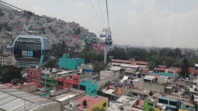 Въжена линия се бори със задръстванията в Мексико сити